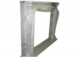 Fireplace in Marmo Bianco Statuario Venato F-0007-AL