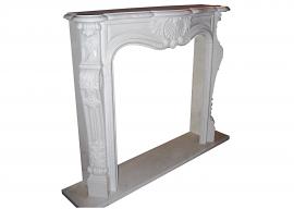 Fireplace in Marmo Bianco P Puro F-0035