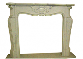Fireplace in Marmo Bianco di Carrara F-0036