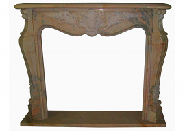 Fireplace in Marmo Rosa Portogallo F-0050-AL1
