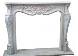 Fireplace in Marmo Bianco Statuario Venato F-0050-AL2