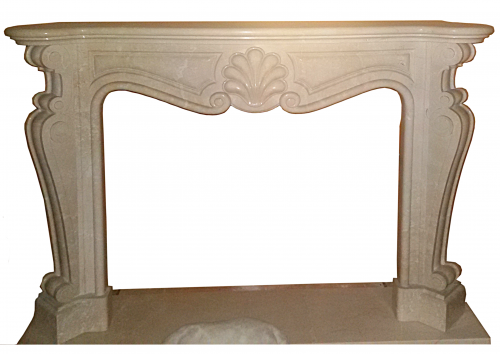 Fireplace in Marmo Botticino Semiclassico F-0052
