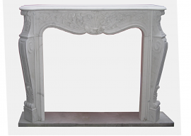 Fireplace in Marmo Bianco di Carrara F-0091-LB