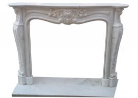 Fireplace in Marmo Bianco di Carrara Anticato F-0100
