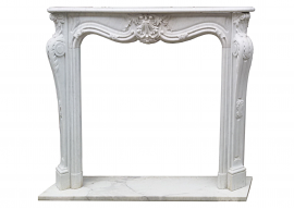 Fireplace in Marmo Bianco di Carrara F-C13