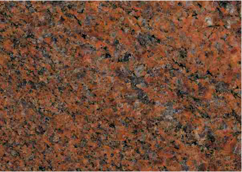 Natural Stone Step Riser In Granito Rosso Multicolor