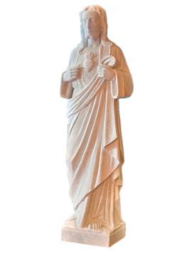 Statue – Cristo Sacro Cuore di Gesù in Bianco di Carrara