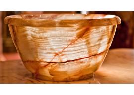Vase In Marmo Onice Alabastro Miele Lucido V-001-A