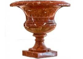 Vase In Marmo Rosso Francia V-002-A