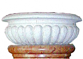 Vaso In Pietra Bianca di Vicenza Levigata V-004-A