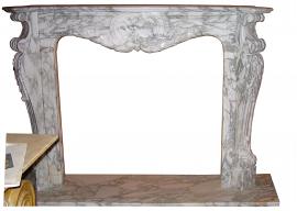 Fireplace in Marmo Bianco di Carrara Arabescato F-1278