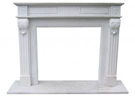 Fireplace in Marmo Bianco di Carrara F-AB2