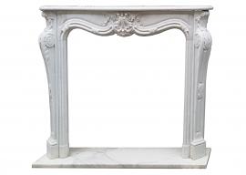 Fireplace in Marmo Bianco di Carrara F-C13