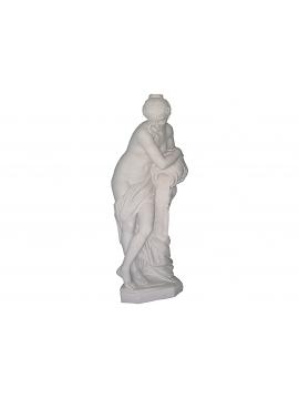 Statue – La Pandora in Marmo Bianco Statuario Lucido