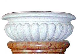Vase In Pietra Bianca di Vicenza Levigata V-004-A