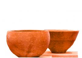Vase In Pietra Bianca di Vicenza Levigata V-009-AB